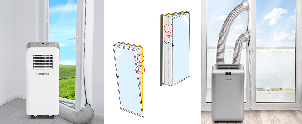 trotec mobile klimaanlage lokales klimager t pac 2000 x 2 0 kw airlock 1000 ebay. Black Bedroom Furniture Sets. Home Design Ideas