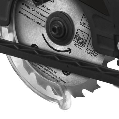 TROTEC Scie circulaire sans fil PCSS 10-20VPortativeButée Parallèle Laser